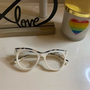 Stella McCartney white frame prescription glasses